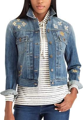 Chaps Women's Embroidered Jean Jacket