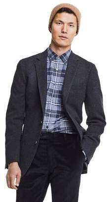 Todd Snyder Made in USA Black Label Sutton Unconstructed Herringbone Sportcoat in Charcoal