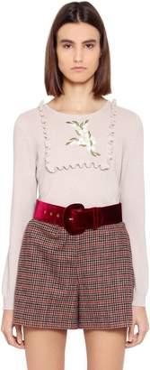Blugirl Embroidered Wool Blend Sweater