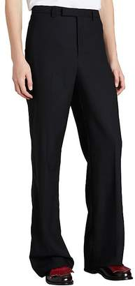 Burberry Men's Wool-Mohair Flared Tuxedo Trousers