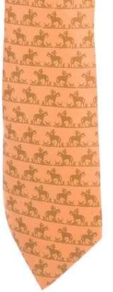 Hermes Chasse a Courre Silk Tie