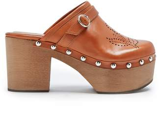 ALEXACHUNG Perforated leather clogs