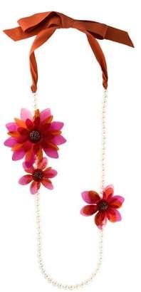 Lanvin Flower Collar Necklace