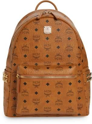 f9ff36b92d310 MCM Medium Stark Side Stud Coated Canvas Backpack