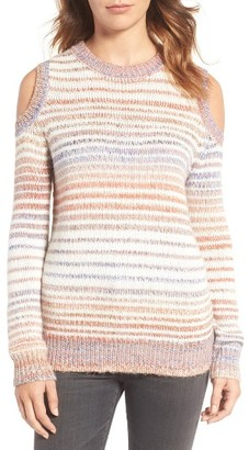 Women's Rebecca Minkoff Page Stripe Cold Shoulder Sweater $148 thestylecure.com