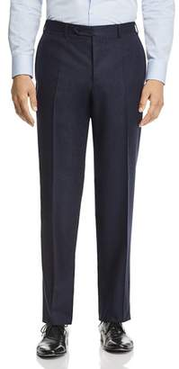Canali Melange Flannel Classic Fit Dress Pants