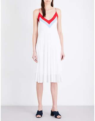 Sandro V-neck knitted dress $255 thestylecure.com