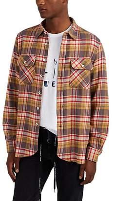 Ovadia & Sons Men's Plaid Flannel Shirt