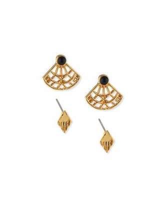 Jules Smith Katerina Fan Stud Earrings $90 thestylecure.com