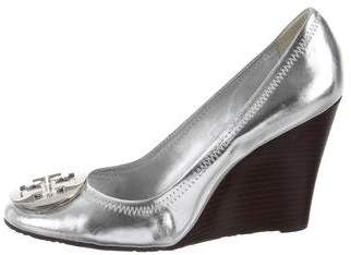 Tory Burch Patent Leather Wedge Pumps