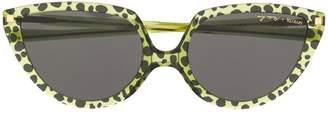 Mykita leopard cat-eye sunglasses