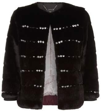 Ted Baker Maiicy Embellished Faux Fur Jacket