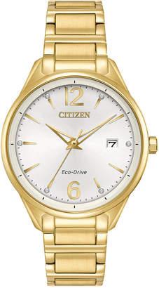 Citizen Eco-Drive Women Gold-Tone Stainless Steel Bracelet Watch 36mm