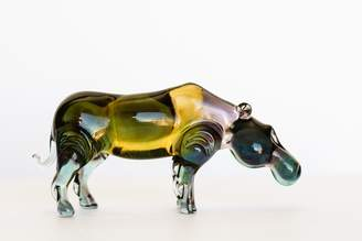 Murano Spirit Pieces Glass Hippo Figurine Lampwork Figurine - Great for Collections