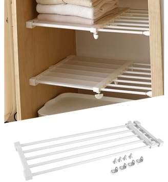 HURRISE Adjustable Wardrobe Partition Shelf,Telescopic Storage Rack Cupboard Wardrobe Closet Divider Partition Shelf