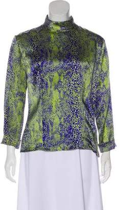 Celine Printed Long Sleeve Top