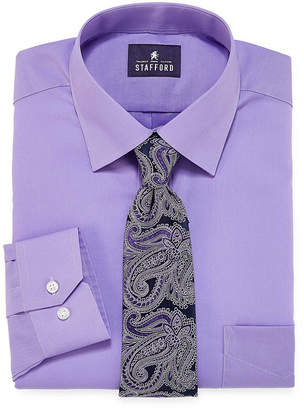 STAFFORD Stafford Travel Easy-Care Dress Shirt and Tie Set