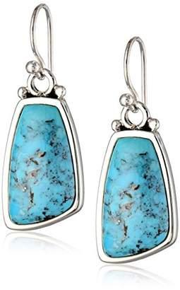 """Barse Basic"""" Turquoise Oblong Rectangular Earrings"""