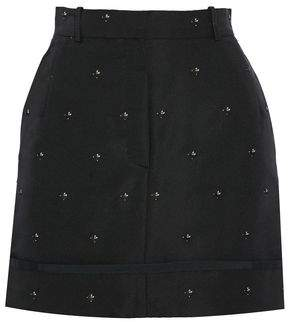 Thom Browne Embroidered Silk-Faille Mini Skirt