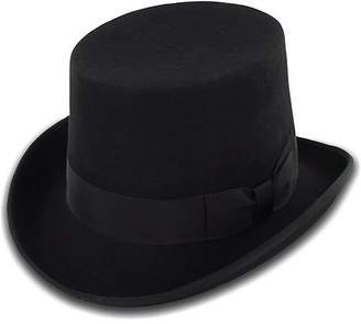 Hats in the Belfry Belfry Topper 100% Wool Satin Lined Men's Top Hat in Available in 4 Sizes