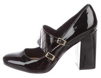 Calvin Klein Collection Patent Leather Mary Jane Pumps