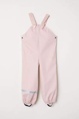 H&M Rain Pants with Suspenders - Pink