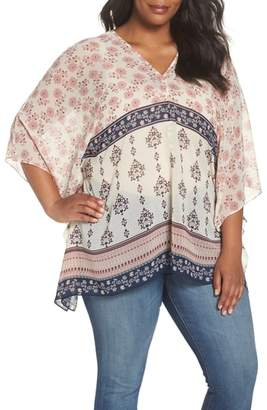 Vince Camuto Tile Wildflower Poncho