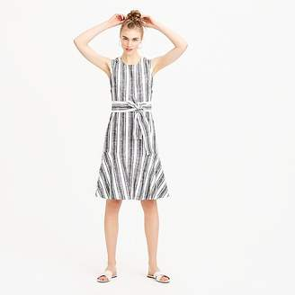J.Crew Petite Belted dress in linen