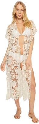 Echo Star Coral Lace Open Front Women's Clothing