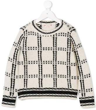 Bonpoint chunky knit checked sweater