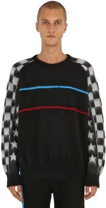 Facetasm Brushed Wool Blend Knit Sweater
