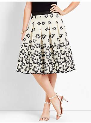 Talbots Organza Pleated Skirt