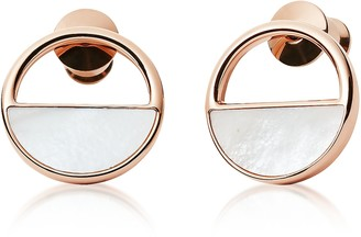 Skagen Elin Rose Gold-Tone Stud Earrings