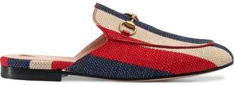 Gucci Princetown Sylvie canvas slipper