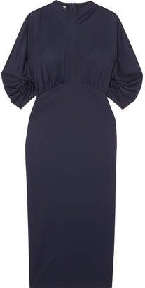 Prada Stretch-jersey Midi Dress - Navy