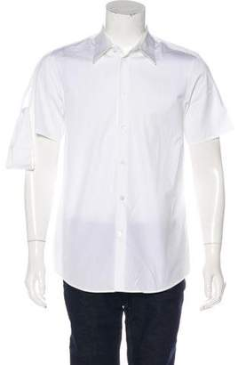 Helmut Lang Vintage Woven Strap Dress Shirt