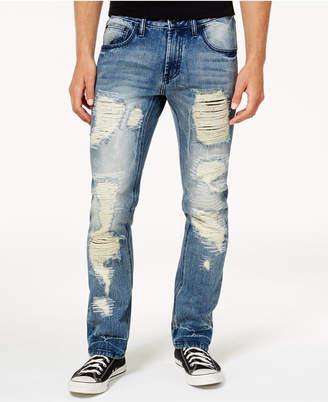 INC International Concepts I.n.c. Men's Mega-Ripped Slim-Fit Jeans, Created for Macy's