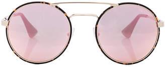 Prada Round Sunglasses $300 thestylecure.com