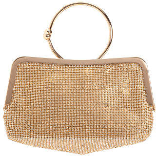 Crystal Embellished Ring Handle Bag