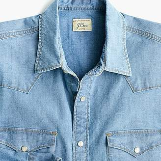 J.Crew Western shirt in stretch chambray