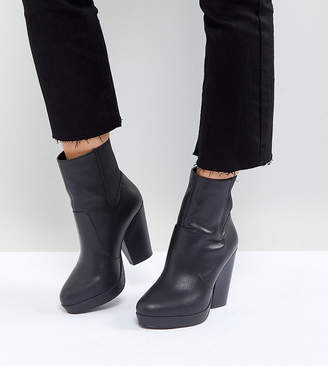 Asos Design EARTHLING Wide Fit High Ankle Boots