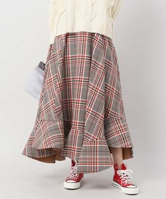 CLANE (クラネ) - JOINT WORKS CLANE asymmetry hem check skirt◇