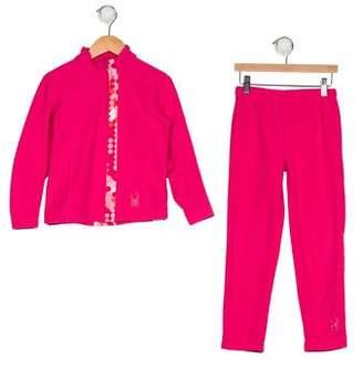Spyder Girls' Fleece Long Sleeve Pant Set