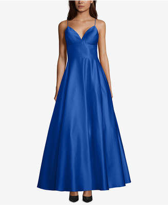 Betsy & Adam Satin Evening Gown