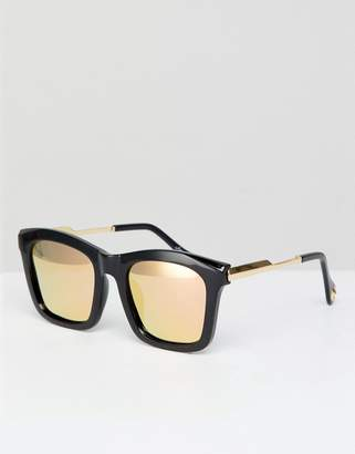 Jeepers Peepers Square Sunglasses In Black