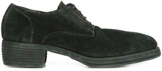 Guidi stacked heel Derby shoes