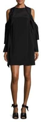 3.1 Phillip Lim Silk Cold Shoulder Dress