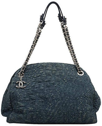 One Kings Lane Vintage Chanel Denim Mademoiselle Bag - Vintage Lux