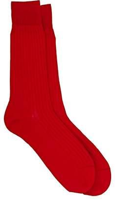 Barneys New York Men's Rib-Knit Mid-Calf Socks