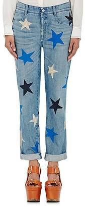 Stella McCartney Women's Star-Print Boyfriend Jeans $495 thestylecure.com